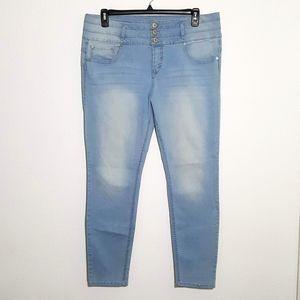 Wallflower   high waisted skinny jeans sz 17